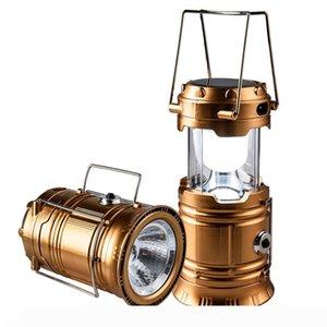 Super Lanterna luminosa ricaricabile, LED di campeggio solare, USB, batteria, energia solare, leggero, adatto per: trekking, campeggio,
