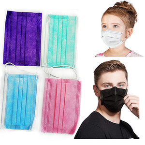 Masks Blue Adult Face Masks Kids Loop Ply Black White Protection Dust Elastic Air Stock Disposable Breathable In Ear 3 With Pollution G Bjcu
