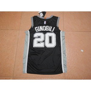 jersey 20 Ginóbili basketball uniforms Tank top Spor Cheap stitched Basketball jerseys