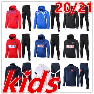 2020 2021 new paris hoodies kids soccer tracksuit 20 21 ajax kids full zipper football jackets tracksuits training jogging suit jacket kit