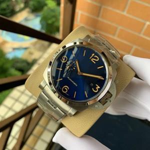 45 milímetros PAM Couro Relógios 316L de aço inoxidável para o homem automáticas PAM 4 cores Relógios de pulso 2020 novo