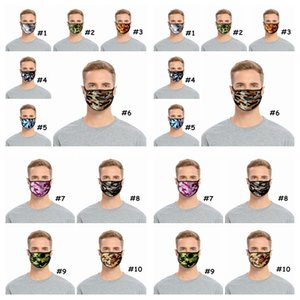 Camouflage Face Mask Kids Cotton Respirator Anti Dust Mouth Muffle Washable Reusable Adult Camo Face Masks CCA12348 120pcs