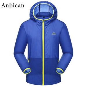 Protección Solar UV ropa transpirable Anbican hombres de la moda a prueba de agua y la capa del verano Fosa de peso ligero, hombres de Protección Solar