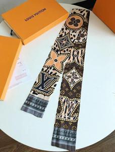 남성과 여성 120 * 8cm C1 2020 새로운 디자이너 실크 스카프 패션 스카프 패션 여성의 핸드백 스카프 장식 리본 실크