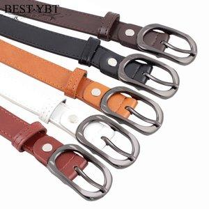 Best YBT Women Imitation Leather Belt Alloy Pin Buckle Belt Fine Wild Models Decorative Simple Fashion Students Women