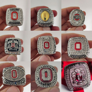 Campeão Nacional 9PCS Ohio State Buckeyes Championship Ring Set Homens Fan sólida Brithday presente Atacado 2020 Drop Shipping