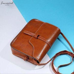 Coin Purse Card Handbag Vintage Purse Bag Leather Cross Body Shoulder Messenger Bag Brown Handbag New Fashion Plain Handbags Coffee