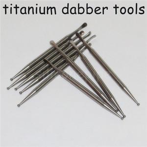 Venta al por mayor clavo de la alta calidad Gr2 titanio aceite Dabber herramienta de Cera de petróleo por fumar vapor cucharada de Ti contenido del 99% de Ti Dabber Herramientas