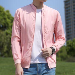 Jacket Women Light Thin Sun-protective Clothing Bomber Jacket Men Spring Summer Fashion Casual Mens Coat Windbreaker Ropa Hombre
