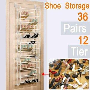 Hanging Shoe Rack Over the door 12 Tier 36 Pair Space Saving Organizer Storage