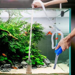 Acquario Fish Tank Vacuum Water Change sifone della ghiaia di aspirazione Tubo Filtro Fr Fish Tank Vacuum Pompa Acqua Change Tools Filtri