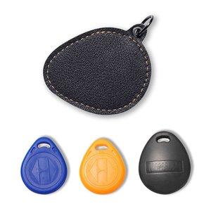 Os titulares carteiras chave Carteiras NewBring Marca Couro RFID Keychain Chaveiro Doorlock Controle de Acesso RFID Tag cartão de identificação do Caso Acesso ao Cartão Bag