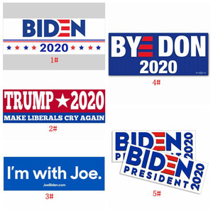 Biden 2020 PVC Car Sticker 7.6*22.9cm Joe Biden Sticker for Presidential Election Decals 5 Designs Keep America Great Stickers DBC BH3897