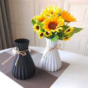Plastic Vases Home Decoration Anti-ceramic Vases European Wedding Modern Decorations Rattan-like Unbreakable Creative Simplicity
