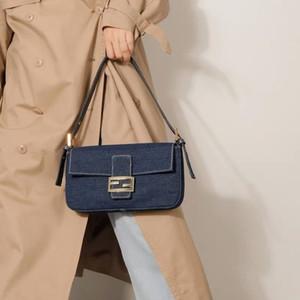 Kadınlar Kot Çanta Kanvas Baget Omuz Çantaları Tasarımcı Vintage Çantalar ve Çanta ile Desen, Baskı As Ücretsiz Hediye Debriyaj Küçük Totes T200116