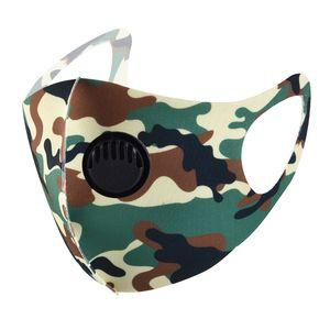 17styles Vana Kamuflaj Yüz Maskesi PM2.5 Karşıtı Toz Koruyucu Maskeler Yıkanabilir Yeniden kullanılabilir Karşıtı Sis Bulanık Yetişkin Ağız Kapak GGA3598-8 Maske Nefes