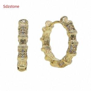 Sdzstone 2020 joyería del partido de boda 18mm metal del oro de Nueva minimalista grande círculo geométrico redondo del aro pendientes para las mujeres chica RjUA #