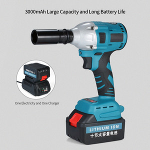 NL721 Brushless Electric Impact Wrench Rechargeable Cordless Impact Wrench 2600mAh Power Tool for Disassembly Drill Installation DY3o#