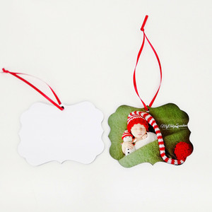 Retail MDF Sublimation Blank Hanging ornament for Christmas Double Sided Can be Printed Blank Home Christmas Decorations Party Supplies