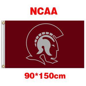 Bandeira de poliéster NCAA Arkansas Little Rock Trojans Equipe 3ft * 5 pés (90cm 150 centímetros *) decoração presentes casa voando jardim bandeira da bandeira