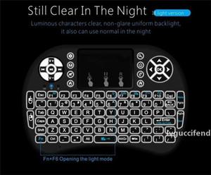 RII I8 스마트 플라이 에어 마우스 원격 백라이트는 2.4GHz 무선 블루투스 키보드 원격 제어를위한 안드로이드 상자 화이트 블랙