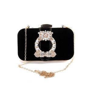 ABERA Meloke 2019 high quality women velour wedding bags diamond flowers clutch wallets banquet bags for ladies MN1265
