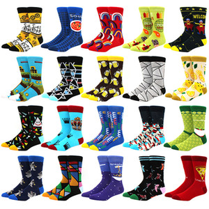 New Mens Sock Diamond Ramen Astronauta Pattern Hip Hop Cool Socks per uomo Inverno Spessa Pattino lungo Skate Funny Socks colorato