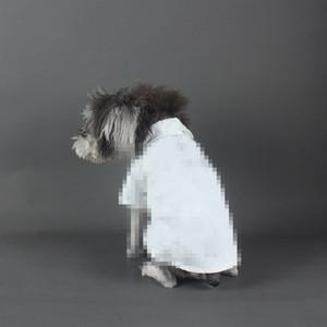 Casual Sonbahar Pet Giyim Açık Kişilik Beyaz Küçük Köpek Gömlek Sevimli Teddy Bulldog Schnauzer Köpek Gömlek