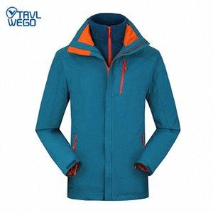 TRVLWEGO Inverno Outdoor Caminhadas Jacket Ski Men Windproof Montanhismo Waterproof Escalada Camping 2 em 1 Velo Keep Warm DRM0 #