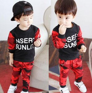 2020 new style children's autumn clothes boys and girls baby children's clothes long sleeve set 0-1-2-3-4 years old spring