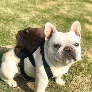 Clássico Impresso Pet Mochilas High Street Personalidade Charme Pet Ombros Bolsas presente de aniversário para Bulldog peluche Bolsas