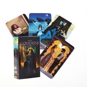 Cartes Tarot de haute qualité English Version Triple Déesse Tarot Card Game Card Divination ami Divertissement Réceptions