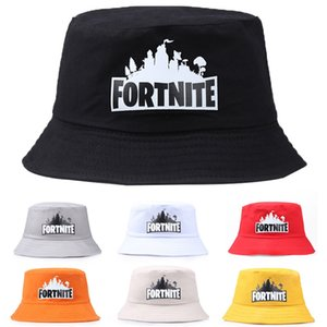 Pure cotton fisherman bucket bucket Fortnite night game peripheral support men and women couple hat sun hat