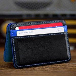 Nuova carta all'ingrosso pacchetto Mini neutro magica Bifold Portafoglio cuoio della carta di borsa del portafoglio Cose raccoglitore libera il trasporto