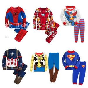 A Generation of Autumn and Winter Home Clothes Childrens Cotton Plain Baby Suit Long-Sleeved Childrens Pajamas