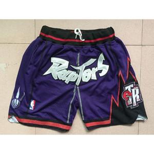 65 jerseys baratos jerseys del baloncesto deportes usa S-XXL RAPTERS DON JUSTO PURPLE POCKET CORTOS cosida camisetas de baloncesto para hombre