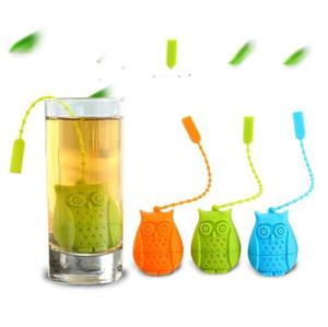 Gufo silicone Tea Strainer Carino Bustine di tè Food Grade creativi a fogli Tea infusore Filtro diffusore Fun Accessori DHB292