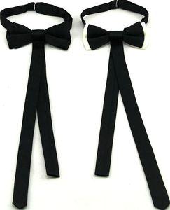 Cravat d'arc de ruban Bowknot Tendance Crousin à la mode pour hommes Butterfly Men's Bow Classes Adulte Noir Blanc Fashion Accessoire 2pcs / Lot