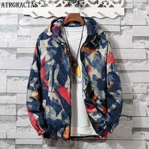 AIRGRACIAS autunno Mens mimetico Outwear Abbigliamento rivestimento degli uomini del cappotto leggero Tasche Cappotti casuali 6 colori S-4XL