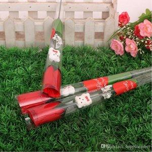Моделирование розы одной красной розы мультфильм Медведь форме сердца наклейки День Святого Валентина Подарок День Матери подарков Свадебные Epacket