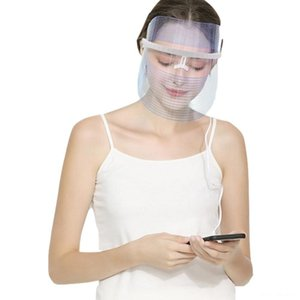 Portable 3 Colors Changing LED Photon Mask Facial Care Treatment LED Beauty Mask Light Therapy Skin Care Tools Device