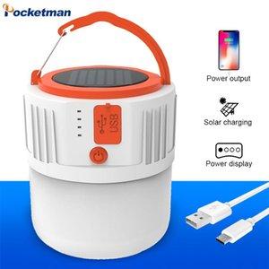 휴대용 랜턴 USB 42 램프 구슬 태양열 충전 조명 에너지 절약 전구 야시장 모바일 야외 캠핑 전원 정전 비상 사태