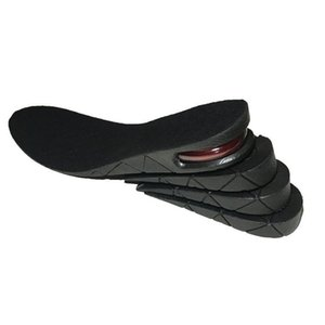 9cm PU Air Cushion Insole 4 Layer Height Increase Shoe Pads Black Cutable Detachable Insoles New Arrival