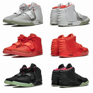 2020 top Newest Kanye West 2 II NRG red october Mens Basketball Shoes For Men Black Grey Glow In The Dark Octobers Men Sports SneakersIjgc#