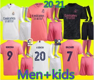 20 21 Real Madrid Soccer Jersey HAZARD home away adult soccer shirt ASENSIO ISCO MARCELO madrid 20 21 kids kit Football uniforms