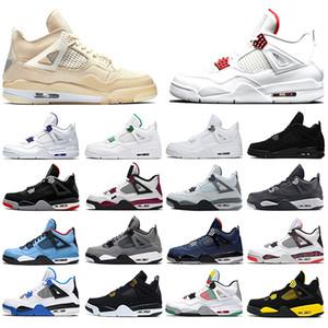 Nike Air Jordan 4 2019 Bred 4 4s Hombres Zapatillas de baloncesto OG NRG Raptors Puro Realeza Negro Cemento blanco iluminación Tatuajes Día Deportes Zapatillas Tamaño
