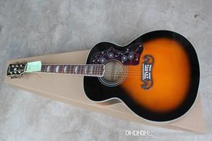 Оптовая Новый S-J200 гитара естественный цвет акустическая гитара Ebony грифа гитары
