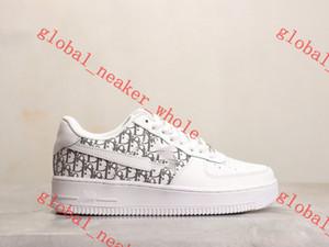 DIOR Nike AIR FORCE 1 shoes xshfbcl 2020 новых женщин Low Cut One 1 Повседневная обувь Белый Черный Dunk Спорт Скейтборд обувь Классические Кроссовки высокие кроссовки