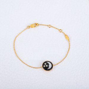 Der neue Sonne Mond Sterne Halskette Glück Anhänger Schmuck nimmt Perlmutt Sterling Silber Dicken 18k Gold Qualitätshalskette bracele