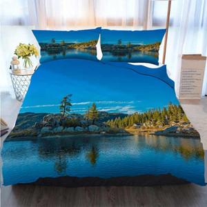 Bettwäsche 3D-Designer-Sets Big Bear Lake Boulder Bay Bernardino National Forest CA Bettbezug Designer Bed Comforters Sets